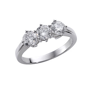 18ct white gold one and a half carat diamond ring - Product number 4951115