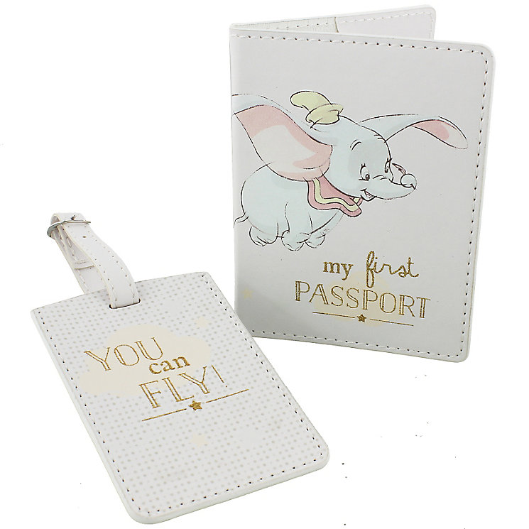 Disney Baby Dumbo My First Passport Holder and Luggage Tag