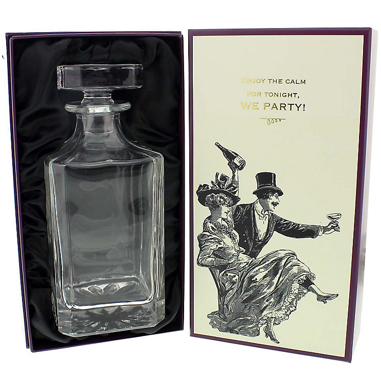 Emporium Collection 27oz Glass Decanter & Gift Box - Product number 4952391