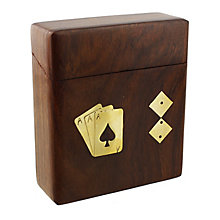 Wooden Cards & Dice Box - Product number 4952413