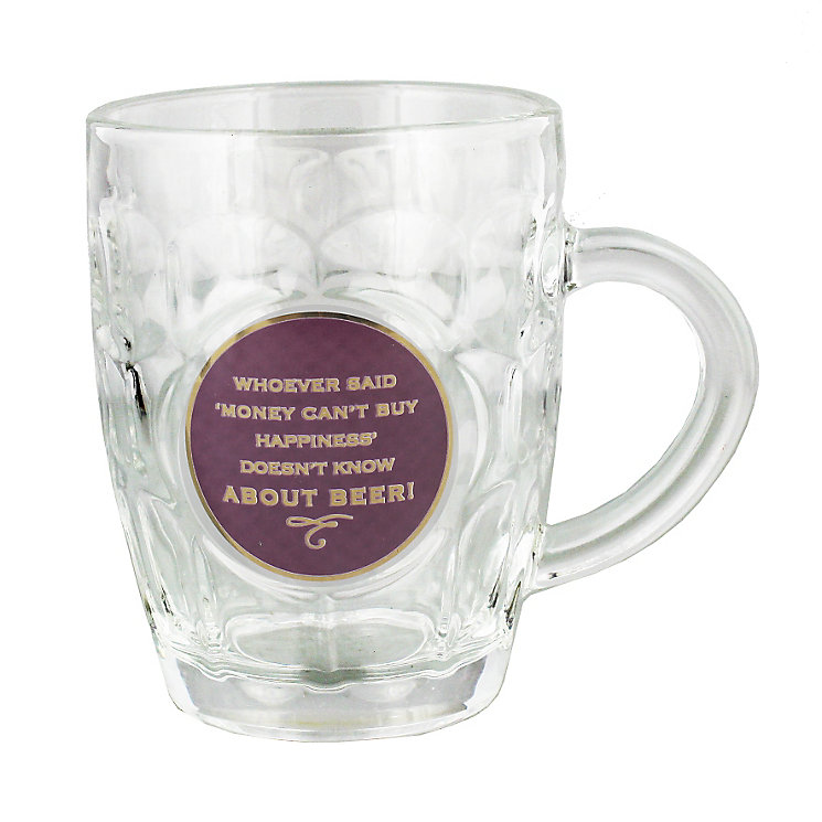 Whoever Said Money' Glass Pint Tankard - Product number 4952421