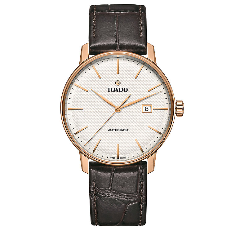 Rado Men's Rose Gold Plated Strap Watch - Product number 4953533