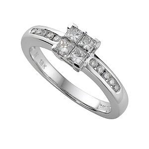 ... gold half carat princess cut diamond ring - Product number 4954491