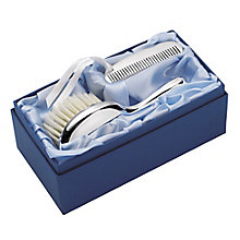 Carrs Sterling Silver Child's Brush & Comb In Silk Lined Box - Product number 4955188