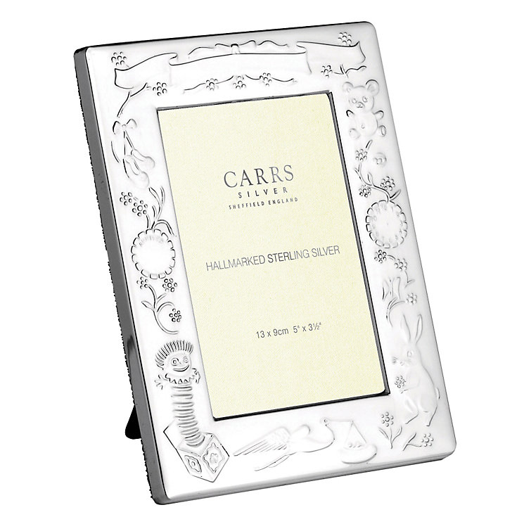 """Carrs Sterling Silver 5""""x3.5"""" Christening Photo Frame - Product number 4955218"""