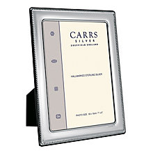 "Carrs Sterling Silver 10""x8"" Beaded Trim Photo Frame - Product number 4955307"