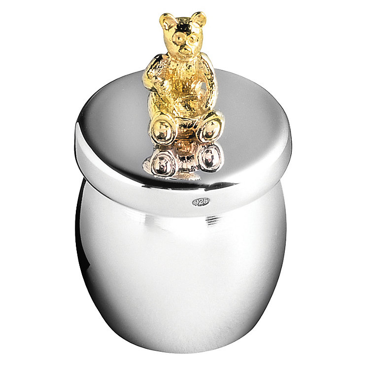 Carrs Sterling Silver Bear Honey Pot Keepsake Box - Product number 4955323