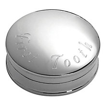 Carrs Sterling Silver First Tooth Keepsake Box - Product number 4955358