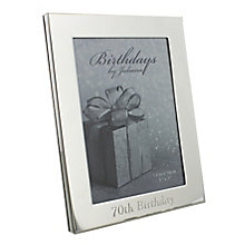 "70th Birthday Silver Plated Photo frame 5"" x 7"" - Product number 4955412"