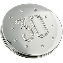 Compact Mirror '30' Engraved & Set With Diamantes - Product number 4955544