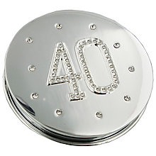 Compact Mirror '40' Engraved & Set With Diamantes - Product number 4955552
