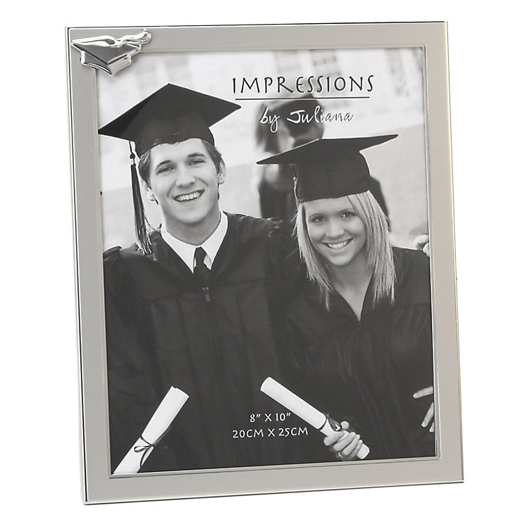 "Aluminium Graduation Frame with Mortar Board Icon 8"" x 10"" - Product number 4955560"