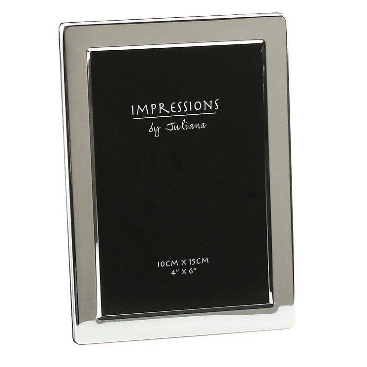 "Silver Plated Photo Frame 4"" x 6"" - Product number 4955617"