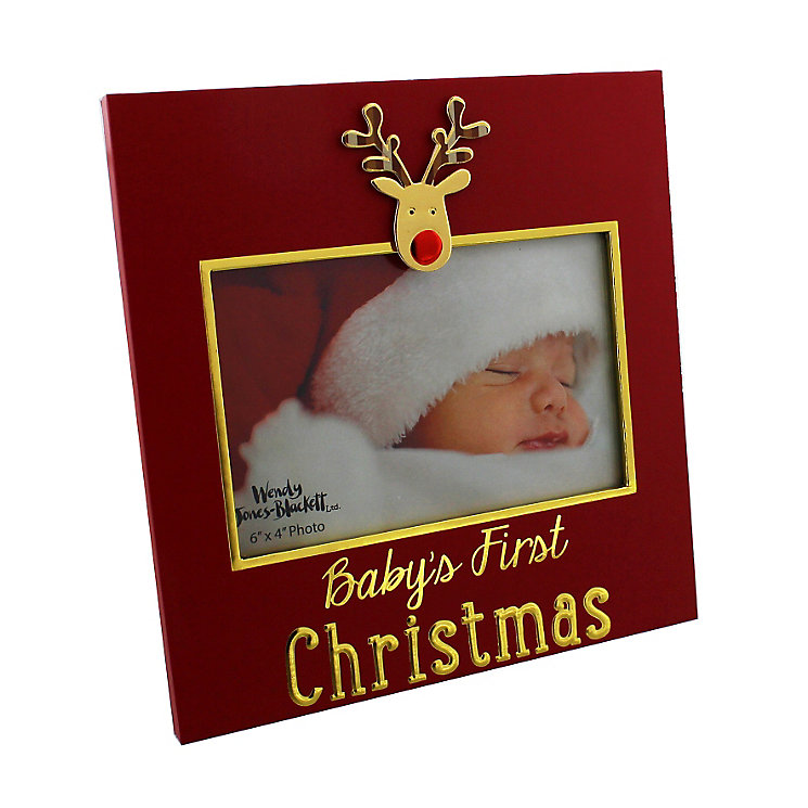 Merry & Bright Baby's First 6x4 Reindeer Photo Frame - Product number 4955838