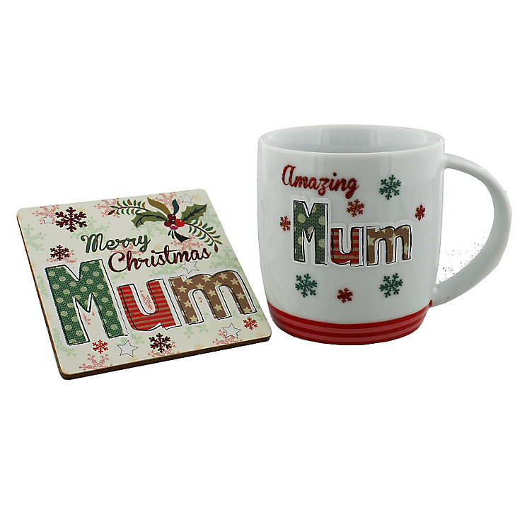Christmas Amazing Mum Coaster & Mug - Product number 4955889