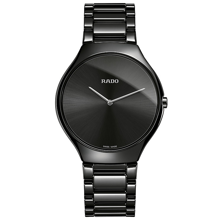 Rado True Men's Black Ceramic Bracelet Watch - Product number 4956915