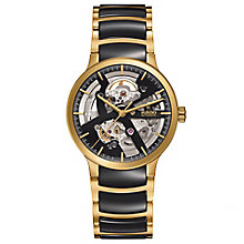 Rado Men's Gold Plated Skeleton Bracelet Watch - Product number 4957113