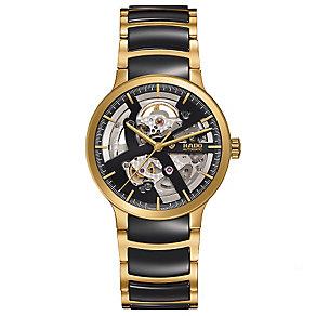 Rado Men's Gold Plated Skeleton Bracelet Watch - Product number 4957113