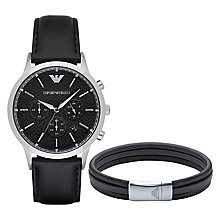 Emporio Armani Stainless Steel Strap Watch Bracelet Set - Product number 4957628