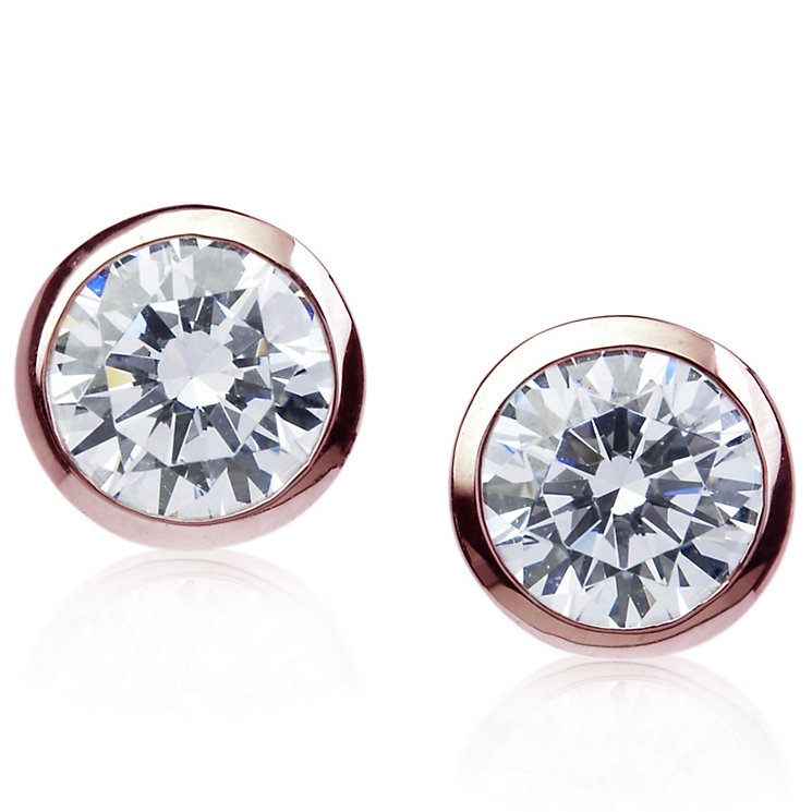 Carat 9ct Rose Gold Stone Set Bezel Studs - Product number 4958918