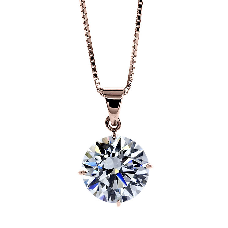 Carat 9ct Rose Gold Stone Set Pendant - Product number 4958942