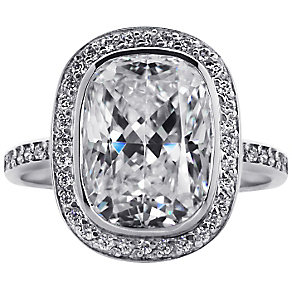 Carat Silver Stone Set Ring Size O - Product number 4959019