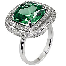 Carat Silver Green Stone Set Ring Size L - Product number 4959027