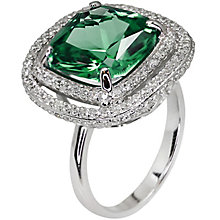 Carat Silver Green Stone Set Ring Size N - Product number 4959035