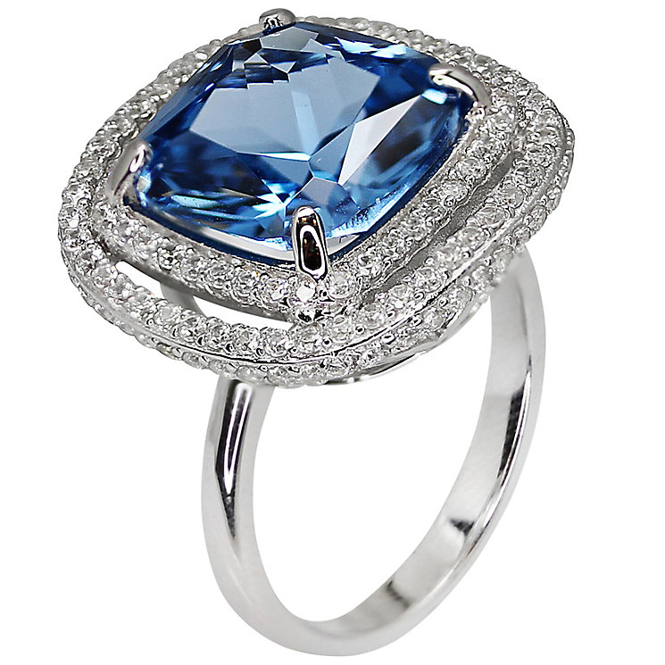 Carat Silver Blue Stone Set Ring Size L - Product number 4959051