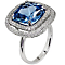Carat Silver Blue Stone Set Ring Size N - Product number 4959078