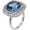 Carat Silver Blue Stone Set Ring Size P - Product number 4959086