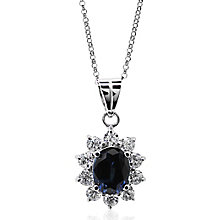 Carat Silver Created Sapphire Pendant - Product number 4959108