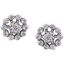 Carat Silver Floral Round Stud Earrings - Product number 4959272