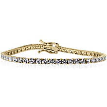 Carat 9ct Yellow Gold Tennis Bracelet - Product number 4959515