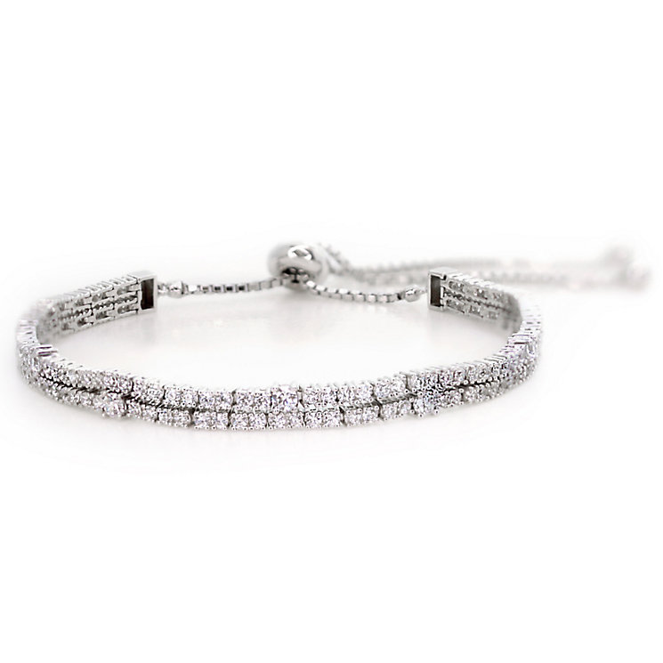 Carat Silver Two Row Bracelet - Product number 4959531