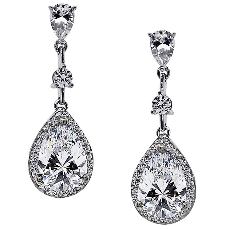 Carat Silver Pear Drop Earrings - Product number 4959566