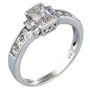 9ct White Gold Cubic Zirconia Ring - Product number 4959876