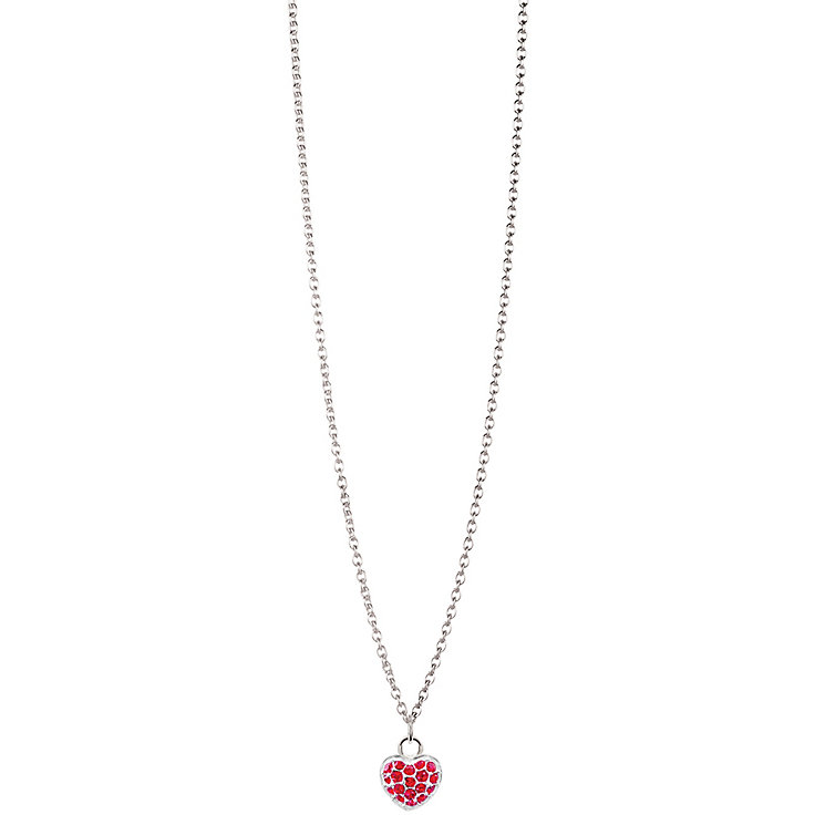 Chamilia Sterling Silver Petite Pave July Heart Necklace - Product number 4960505