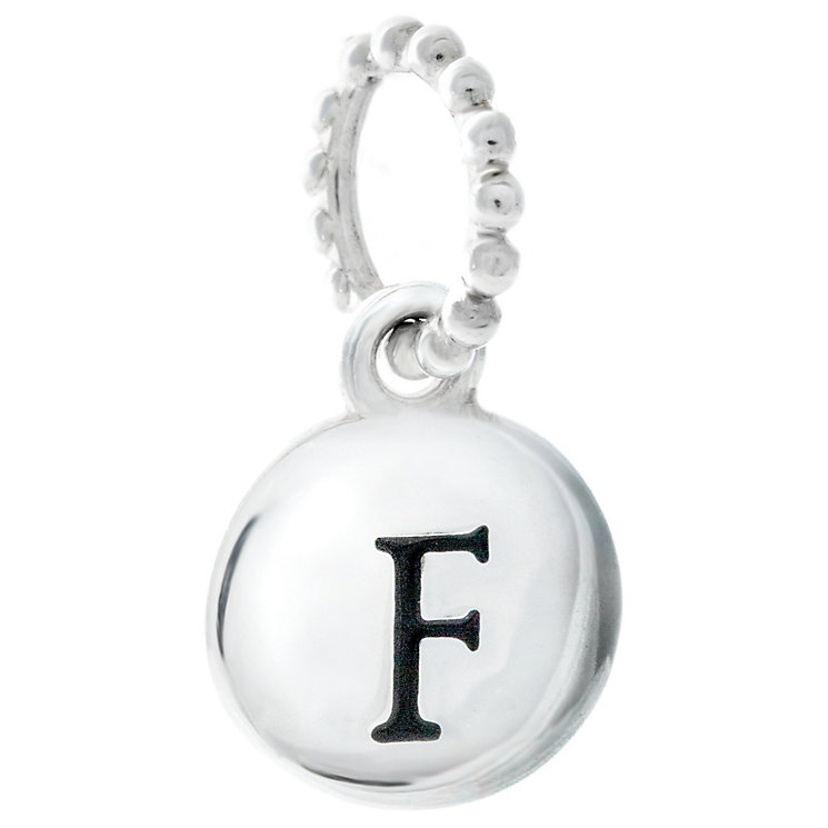 Chamilia Sterling Silver Alphabet Disc Charm F - Product number 4960629