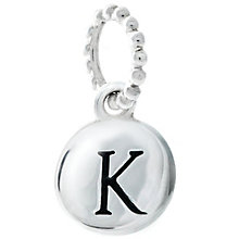 Chamilia Sterling Silver Alphabet Disc Charm K - Product number 4960688