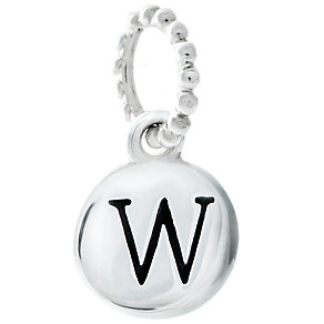 Chamilia Sterling Silver Alphabet Disc Charm W - Product number 4960815