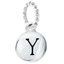 Chamilia Sterling Silver Alphabet Disc Charm Y - Product number 4960831