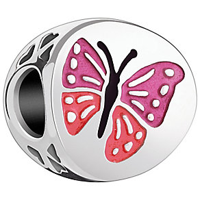 Chamilia Sterling Silver Pink Enamel One in a Million Bead - Product number 4960955