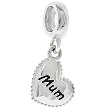 Chamilia Sterling Silver Mum Petite Millegrain Heart Charm - Product number 4961110