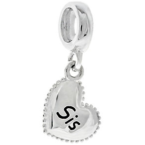 Chamilia Sterling Silver Sis Petite Millegrain Heart Charm - Product number 4961129