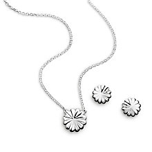 Chamilia Sterling Silver Rosette Earrings and Pendant Set - Product number 4963326