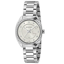 Gucci Ladies' Stainless Steel Diamond Set Bracelet Watch - Product number 4963466