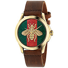 Gucci Ladies' Gold Plated Strap Watch - Product number 4963687