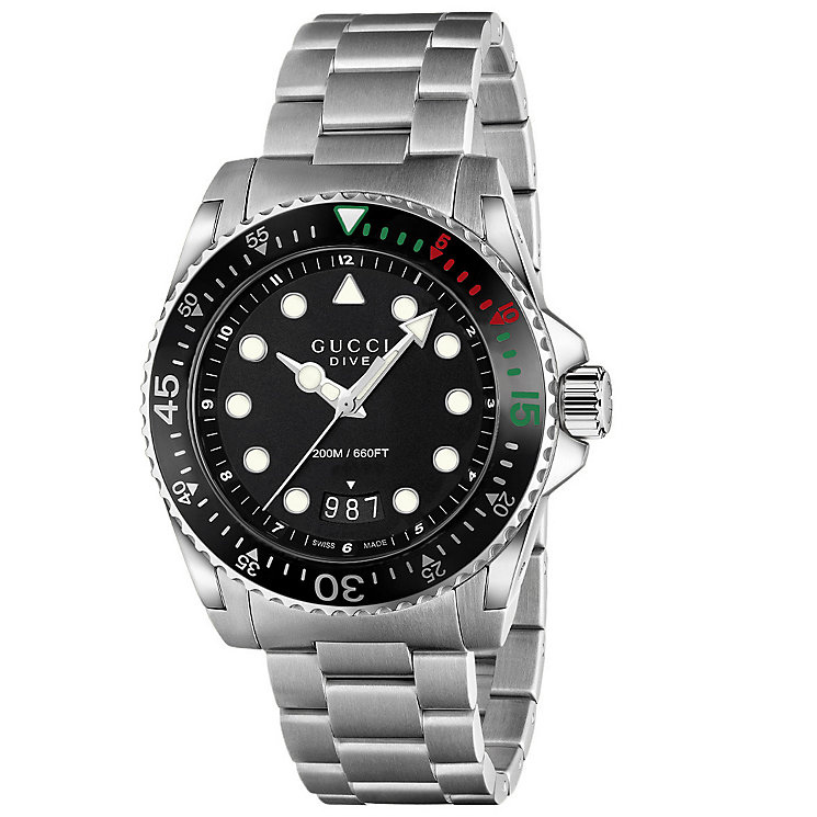 Gucci Dive Men's Stainless Steel Bracelet Watch - Product number 4964055