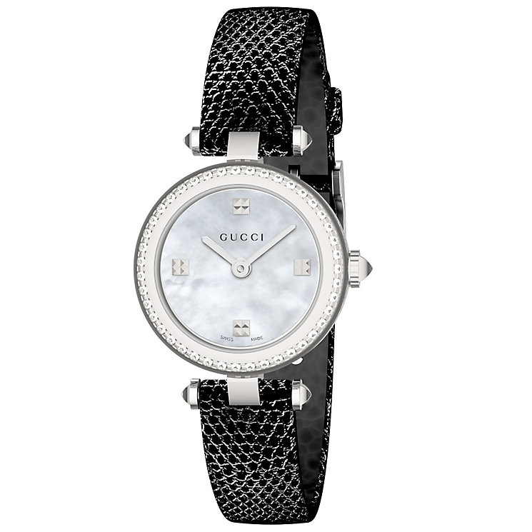Gucci Ladies' Stainless Steel Stone Set Strap Watch - Product number 4966244